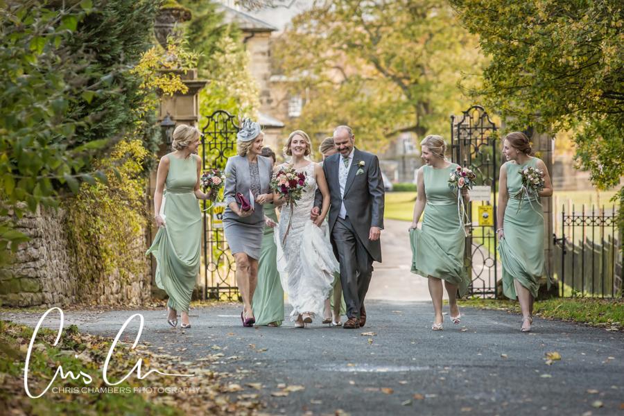 Leeds wedding photographer, Denton Hall wedding photography, Yorkshire wedding photographer at Denton Hall, Denton Hall church wedding photography, Ilkley wedding photographer
